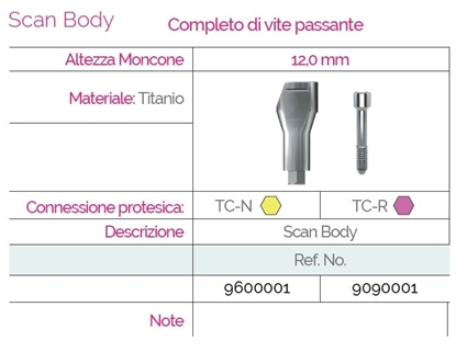 Immagine di Scan Body Extraorali & Intraorali TC©